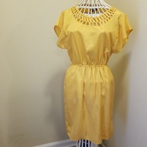 Short sleeve Yellow dress